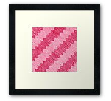 Pink Stripe Pixel Patterns Framed Print