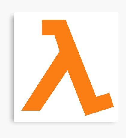 Half-Life - Lambda Symbol Canvas Print