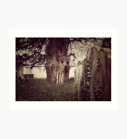 Gothic Church Lanscape Image ~ Corpus Christi Church, Tremeirchion, North Wales UK Art Print