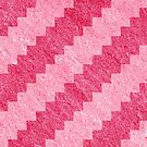 Pink Stripe Pixel Patterns by likelikes
