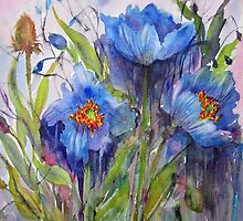 Blue Poppies by bevmorgan
