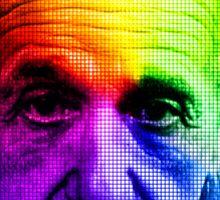 Albert Einstein Pixel Genus Sticker