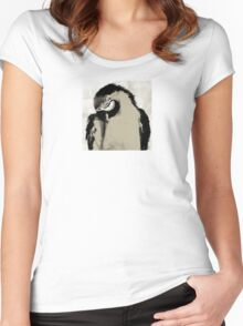 Wetnose Parrot Sepia Women's Fitted Scoop T-Shirt