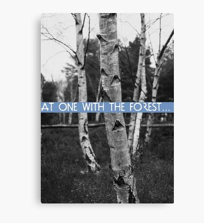 At One With The Forest Canvas Print