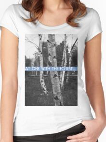 At One With The Forest Women's Fitted Scoop T-Shirt