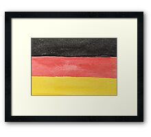 Germany Flag in Hand-Painted Water Colors Black, Red and Gold Framed Print