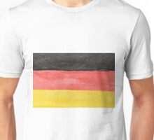 Germany Flag in Hand-Painted Water Colors Black, Red and Gold Unisex T-Shirt