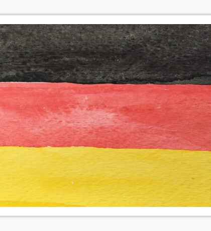 Germany Flag in Hand-Painted Water Colors Black, Red and Gold Sticker