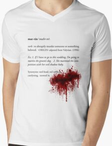 All Men Must Martin. Mens V-Neck T-Shirt