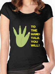 You talkin' to me? Women's Fitted Scoop T-Shirt