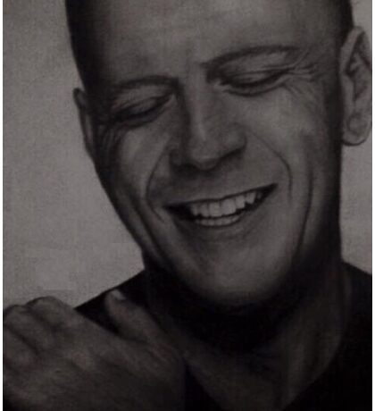 Bruce Willis Drawing Sticker