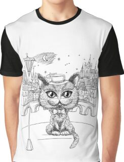 British cat hipster in Prague Graphic T-Shirt