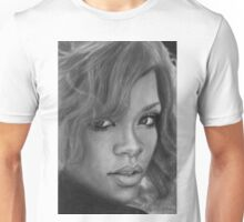 Rihanna Pencil Drawing Unisex T-Shirt