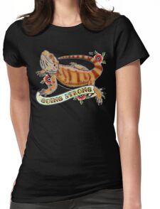"""""""Going Strong Bearded Dragon"""" Womens Fitted T-Shirt"""