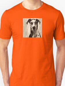 Wetnose Great Dane Sepia Unisex T-Shirt