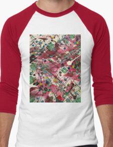 Paint Splatter Part 2 Men's Baseball ¾ T-Shirt