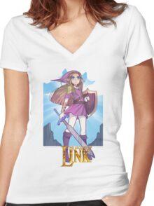 LEGEND OF LINK Women's Fitted V-Neck T-Shirt