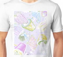 Cacti and flamingo print, inspired by exotic cocktails Unisex T-Shirt