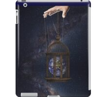Surrealism fantasy Graphic Tee Earth Suspended inside cage  iPad Case/Skin