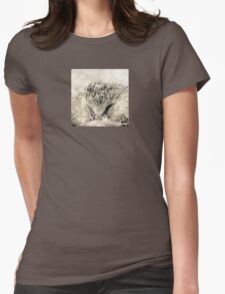 Wetnose Hedgehog Sepia Womens Fitted T-Shirt