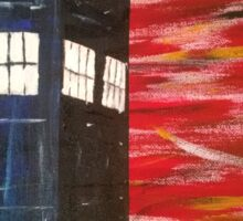 Dr. Who TARDIS Sticker