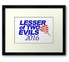 Lesser of Two Evils Bumper Sticker Framed Print