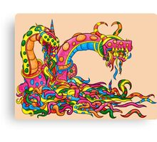 The Glucovermiling (The Gummy Worm Horde) Canvas Print