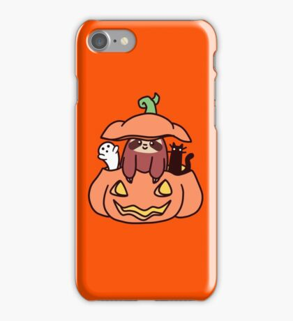 Jack O' Lantern Sloth iPhone Case/Skin