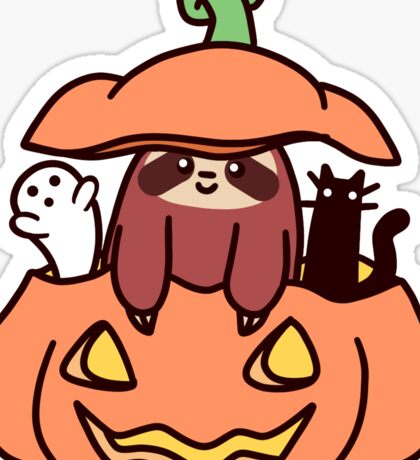 Jack O' Lantern Sloth Sticker