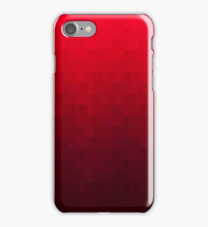 Hexagonal Overlay - Off-Red iPhone Case/Skin