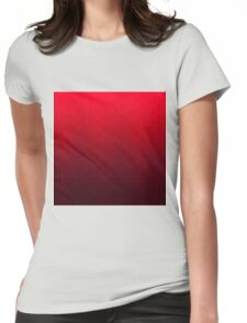 Hexagonal Overlay - Off-Red Womens Fitted T-Shirt