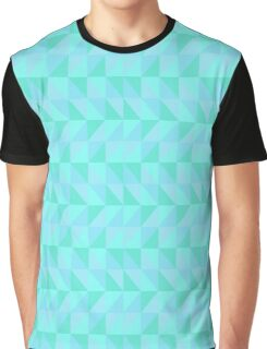 90's Triangle Madness (Blue) Graphic T-Shirt