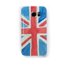 Union Jack UK Flag in Water Colors Red, White and Blue Samsung Galaxy Case/Skin