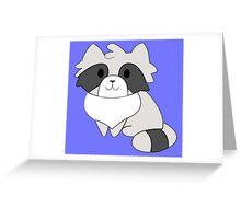 Chibi Raccoon Greeting Card