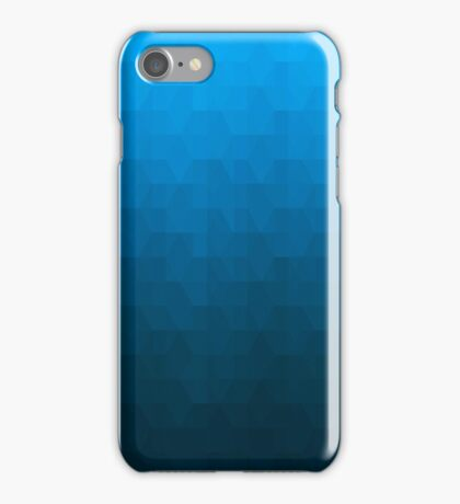 Hexagonal Overlay - Deep Sky Blue iPhone Case/Skin