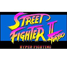 Street Fighter II Turbo: Hyper Fighting (SNES Title Screen) Photographic Print