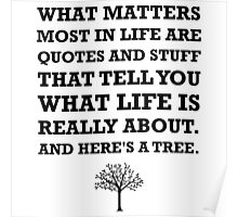 Quotes About Life Tree Poster