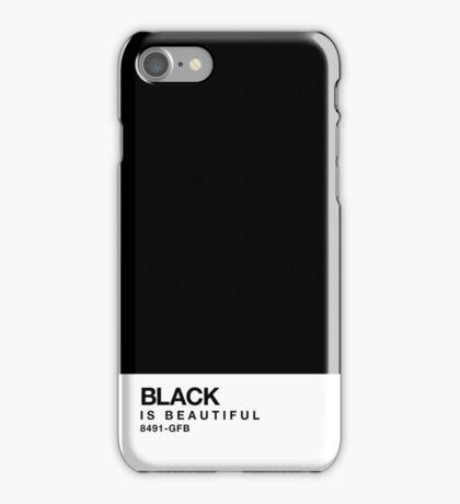 Black is beautiful - Pantone Swatch iPhone Case/Skin