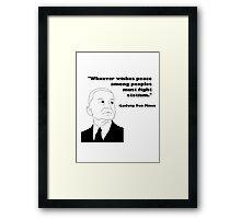 Mises on Statism Framed Print