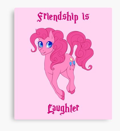 Friendship is Laughter Canvas Print
