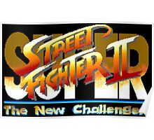 Super Street Fighter II  (SNES Title Screen) Poster