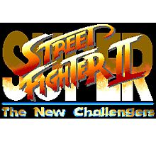 Super Street Fighter II  (SNES Title Screen) Photographic Print