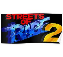 Streets of Rage 2 (Genesis Title Screen) Poster