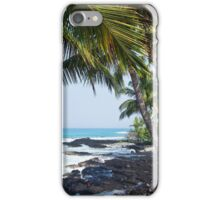 Hawaiian Coast Ocean Waves Rocky Beach Tropical Landscape iPhone Case/Skin