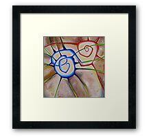 Heart Spiral Framed Print