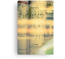 Music scrolls yellow Canvas Print
