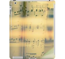 Music scrolls yellow iPad Case/Skin