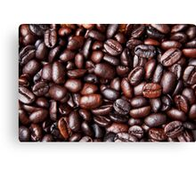 Black Brown Coffee Bean Cafe Beans Background Canvas Print