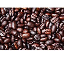 Black Brown Coffee Bean Cafe Beans Background Photographic Print