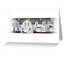 Downhill Terrace with Windows on the level! Greeting Card